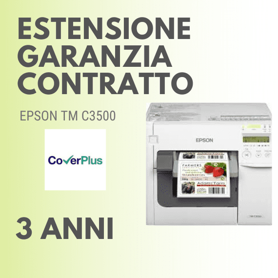 Contratto di ESTENSIONE GARANZIA 3 anni ON‐SITE stampante C7500