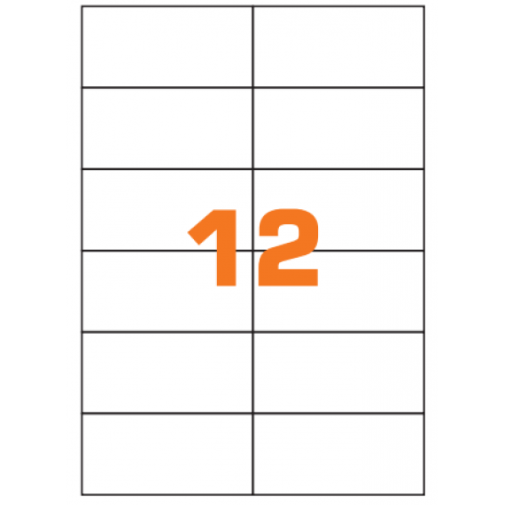 Etichette in fogli A4 formato 210x25 senza margini