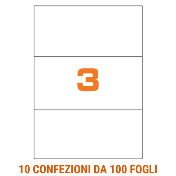 Etichette fogli A4 formato 70x297 senza margini