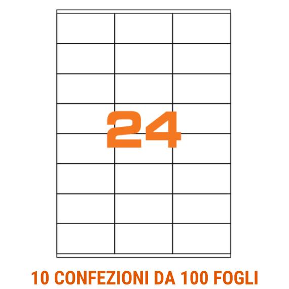 Etichette fogli A4 formato 70x36 con margini