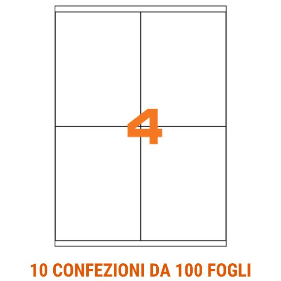 Etichette in fogli A4 formato 105x140 con margini