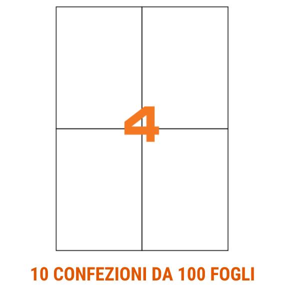 Etichette in fogli A4 formato 105x148 senza margini