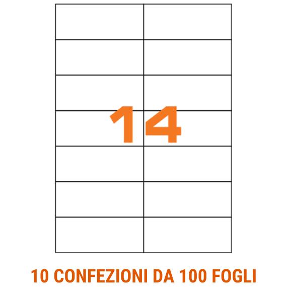 Etichette in fogli A4 formato 105x42,3 senza margini