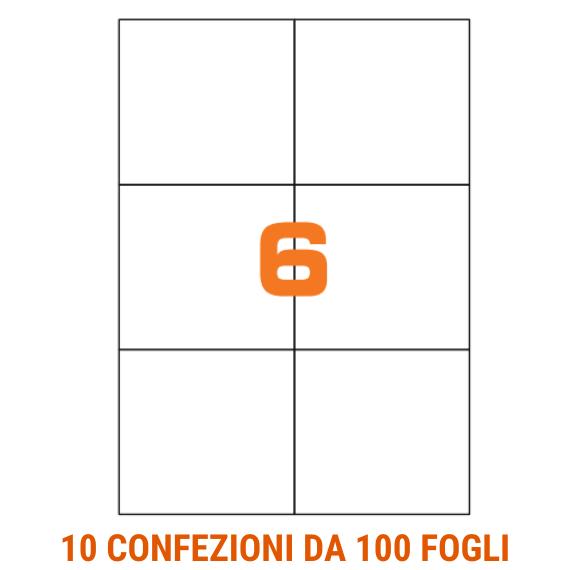 Etichette in fogli A4 formato 105x99 senza margini