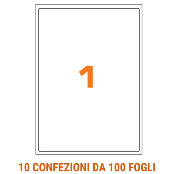Etichette in fogli A4 formato 199,6x289,1 con angoli arrotondati