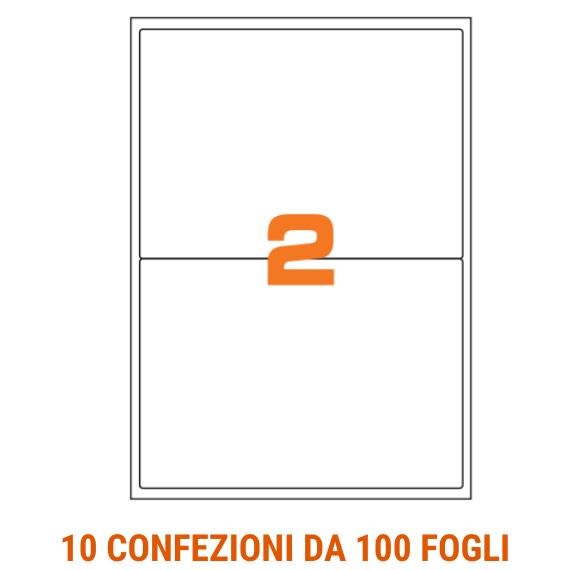 Etichette in fogli A4 formato 200x142 con angoli arrotondati
