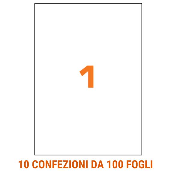 Etichette in fogli A4 formato 210x297