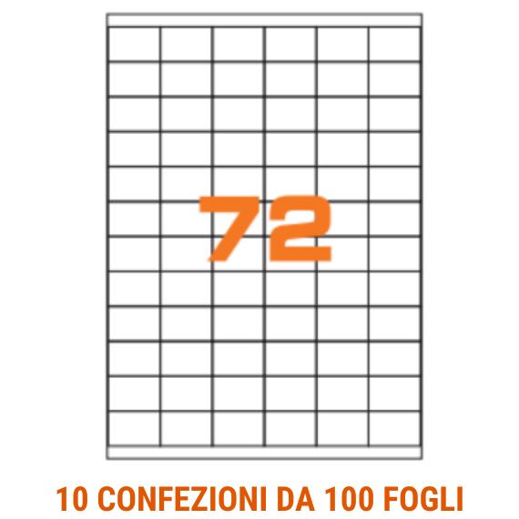Etichette in fogli A4 formato 35x23,5 con margini