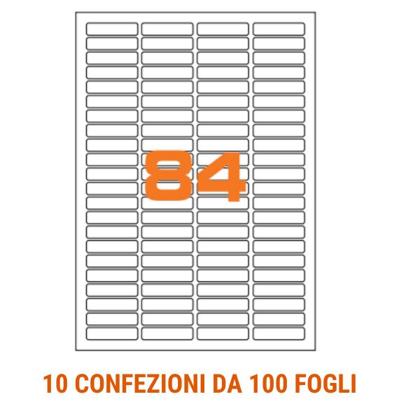 Etichette in fogli A4 formato 46x11,1 con margini