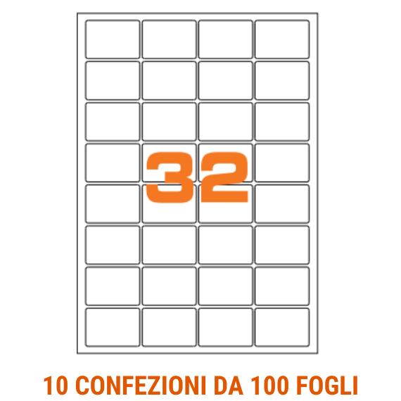 Etichette in fogli A4 formato 47,5x35 angoli arrotondati