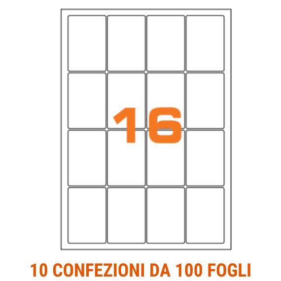 Etichette in fogli A4 formato 47,7x70 angoli arrotondati