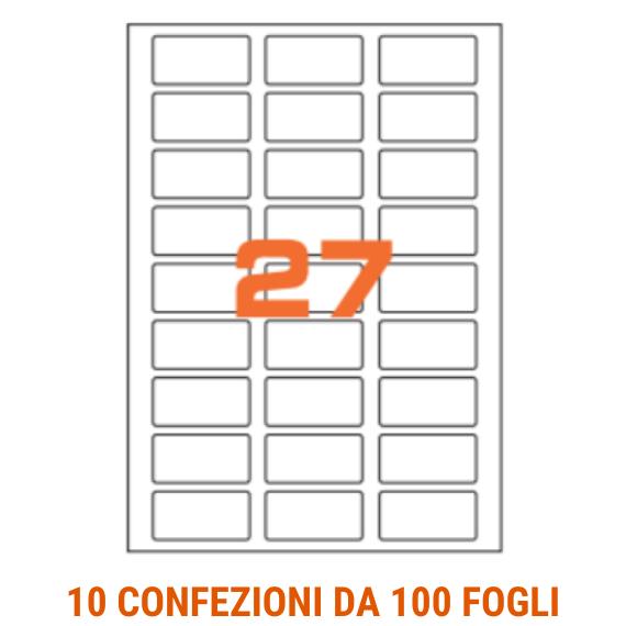 Etichette in fogli A4 formato 56x28 angoli arrotondati