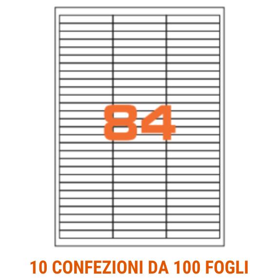 Etichette in fogli A4 formato 67x10 con margini