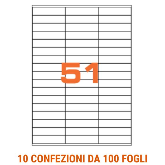 Etichette in fogli A4 formato 70x16,9 con margini