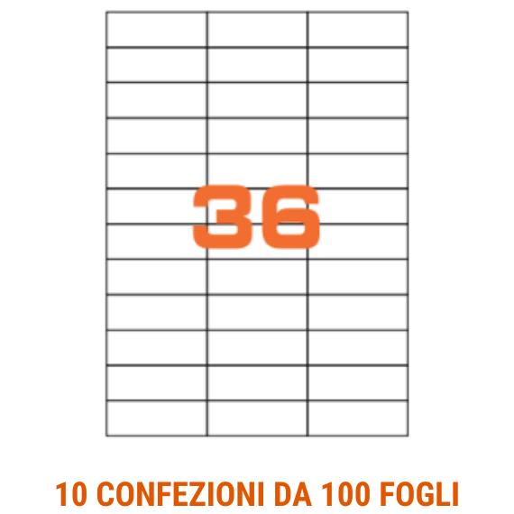 Etichette in fogli A4 formato 70x24,7 senza margini