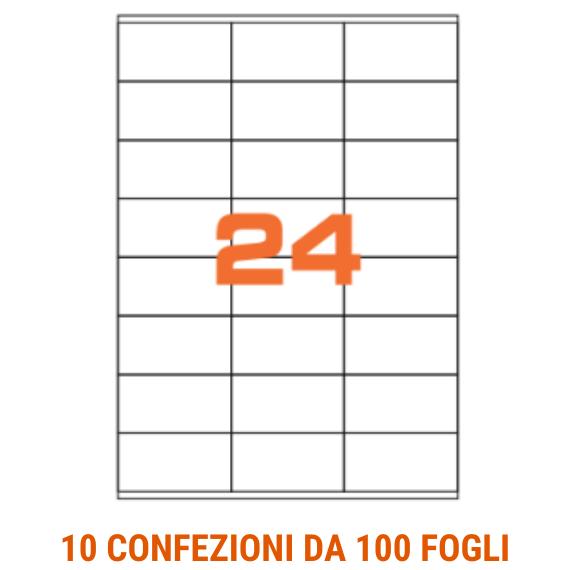 Etichette in fogli A4 formato 70x35 con margini