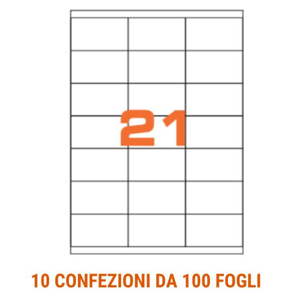 Etichette in fogli A4 formato 70x40 con margini