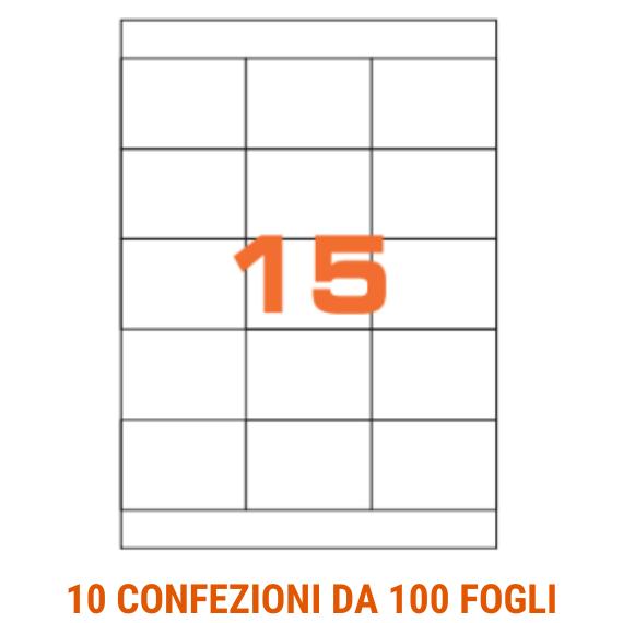Etichette in fogli A4 formato 70x50,8 con margini