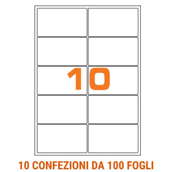 Etichette in fogli  A4 formato 70x52 angoli arrotondati