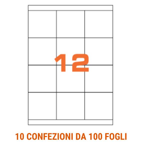 Etichette in fogli A4 formato 70x67 con margini