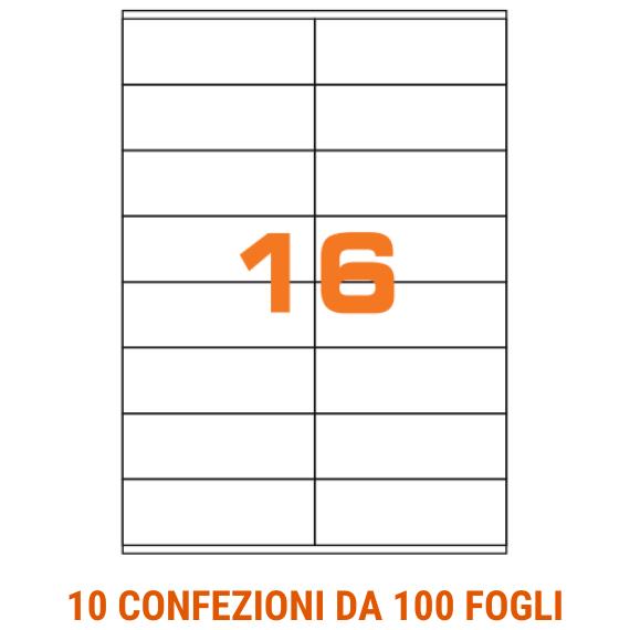 Etichette in fogli A4 adesivo removibile formato 105x36 con margini