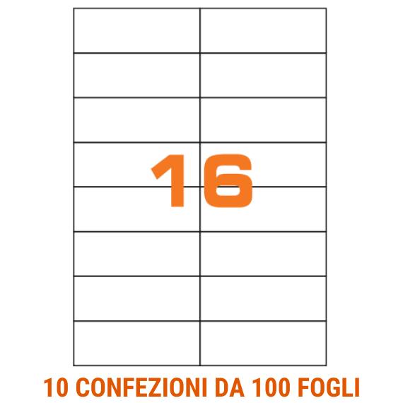 Etichette in fogli A4 formato 105x37 senza margini