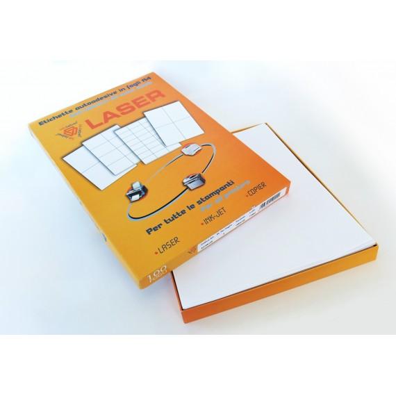 Etichette in fogli A4 carta fluo arancio